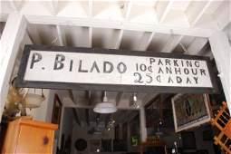 """P. Bilado Parking"" Sign"