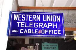 Western Union Telegraph and Cable Office Sign