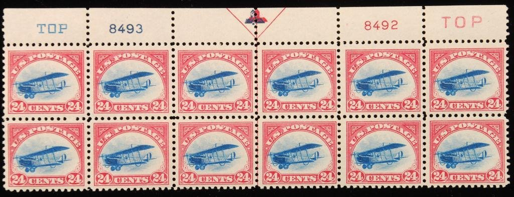 Scott #C3 24 cent Curtiss Biplane Airmail Stamps