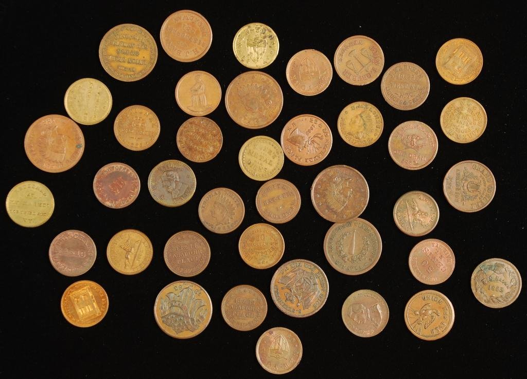 (40) Civil War Tokens New York City & NY
