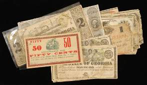 Early George Bank Notes and Confederate Currency