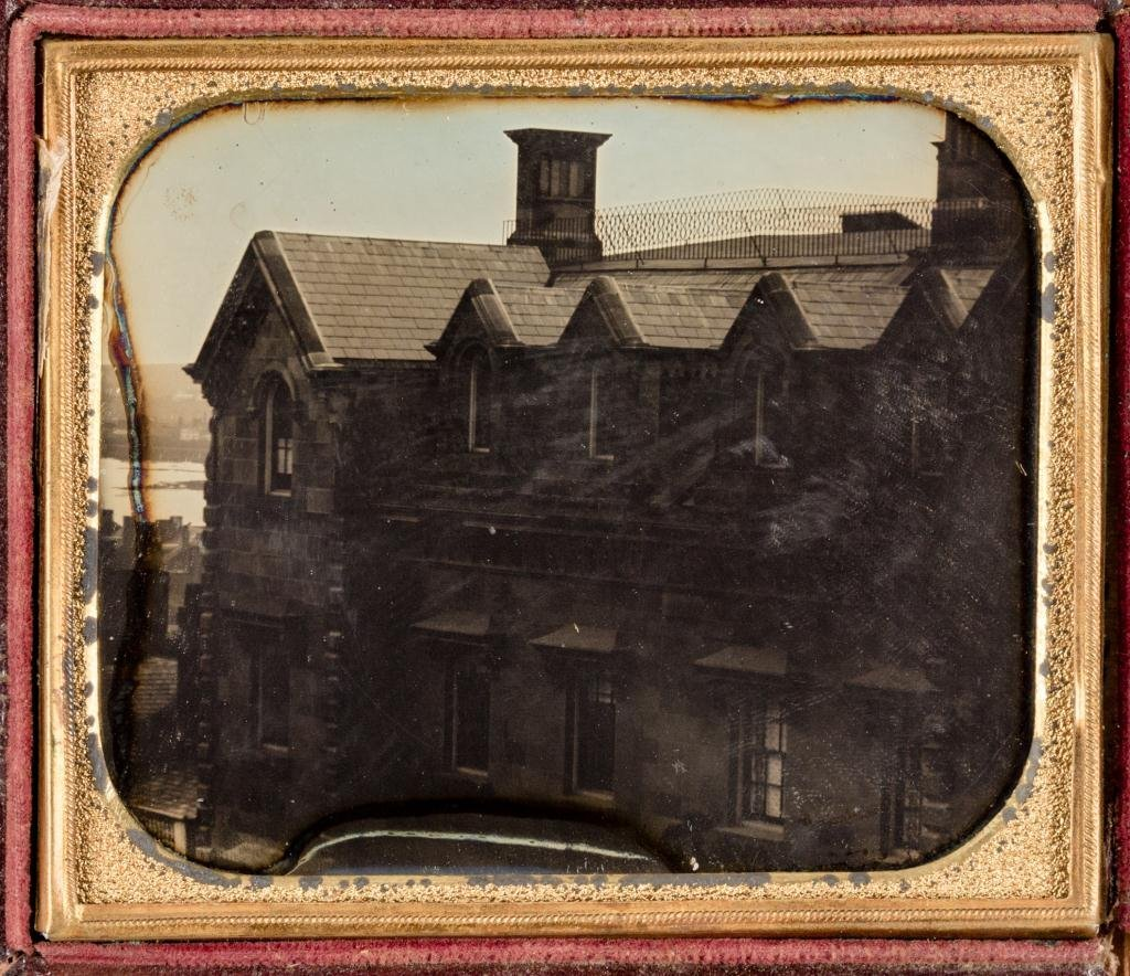 Early 1840's Daguerreotype of Manse and Panorama