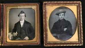 (2) 1/6 Plate Daguerreotypes of Young Men