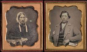 2 16 Plate Daguerreotypes Signed Hale  Upton