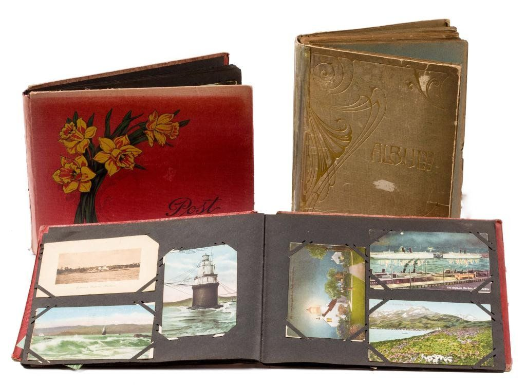 (3) Albums with Over 350 Light House Post Cards