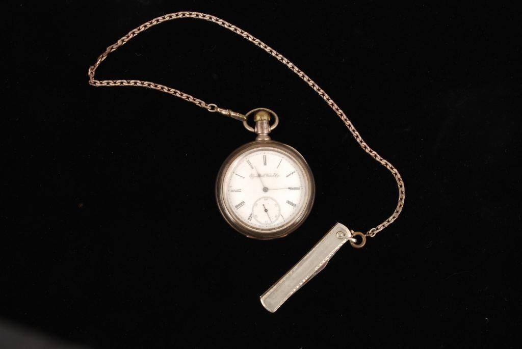 COIN SILVER ELGIN NAT. WATCH CO. POCKET WATCH