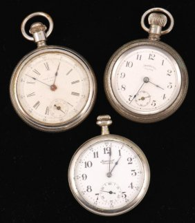 (3) Ingersoll Eclipse Reliance & New Haven Watches