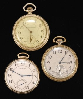 (3) American Pocket Watches