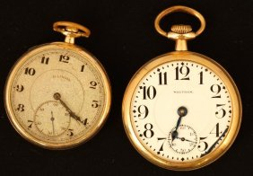 """Waltham """"cresent"""" And Illinois Pocket Watches"""