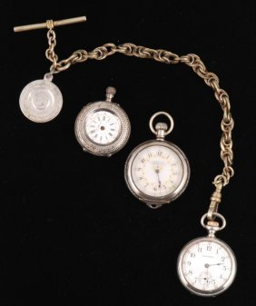 (3) Small Pocket Watches Including Waltham