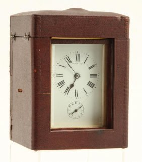 Tiffany & Co Traveling Repeater Clock With Case