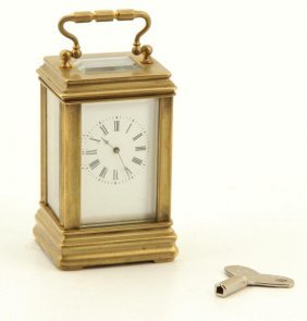 Aiguilles Miniature Brass Carriage Clock