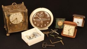 Lot Of Wrist Watches, Travel And Alarm Clocks