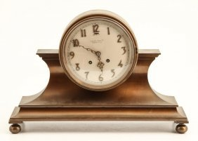 Chelsea Bronze Tambour #1mantle Clock With Strike