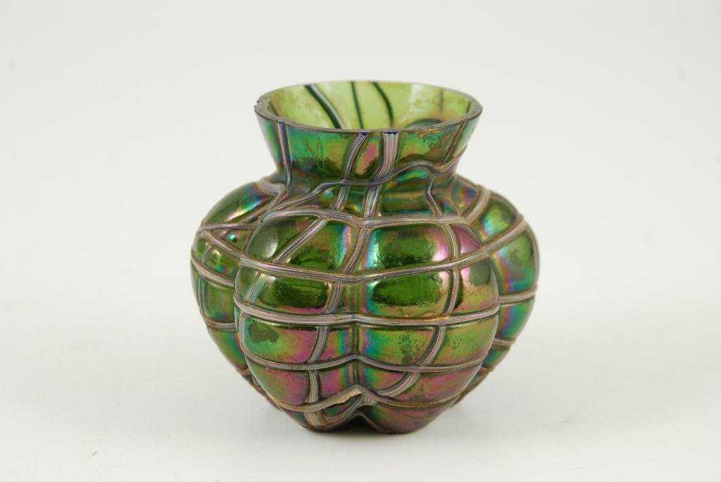 Kralik Veined Art Nouveau Cabinet Vase