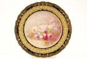 """Haviland Limoges Cabinet Plate """"mon Jardin"""""""