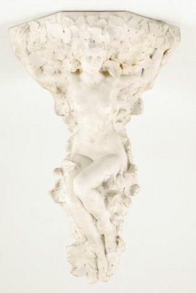 Sevres Ac Figural Porcelain Corner Shelf
