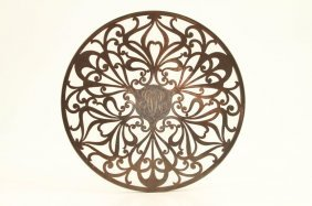A. Stowell & Co Sterling Silver Overlay Trivet