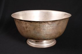 Paul Revere Repr Sterling Silver Presentation Bowl