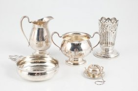 Lot Of Sterling Silver Holloware