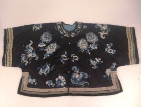 (19th/20th C) Chinese Silk Embroidered Lady's Coat