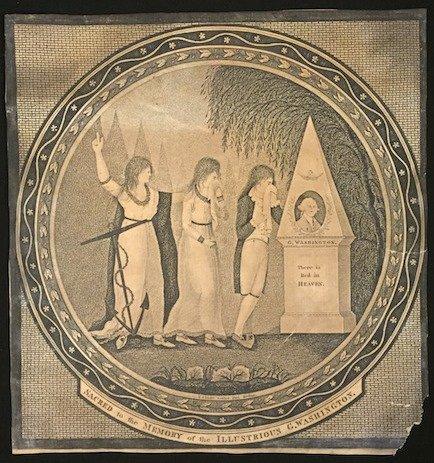 1801 G WASHINGTON MOMENTO MORI BY T. CLARKE BOSTON