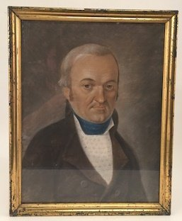 (19th c) FEDERAL PERIOD PORTRAIT OF A GENT