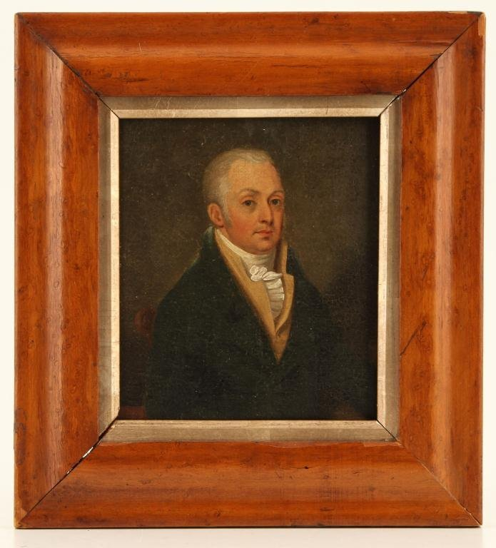 (19th c) FEDERAL PERIOD PORTRAIT OF A GENTLEMAN