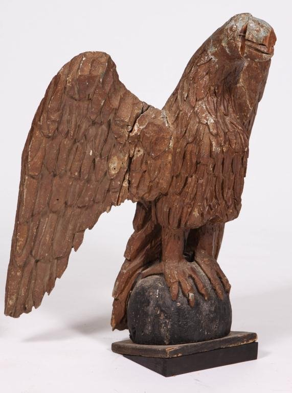 IMPORTANT (LATE 18th c) CARVED EAGLE NEWBURYPORT