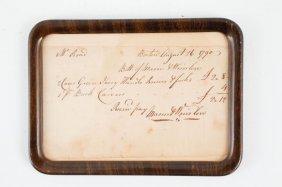 Nathan Read 1790 Receipt For Utensils Boston
