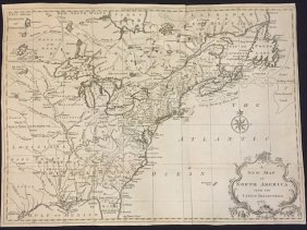 A New Map Of North America From 1763 Discoveries