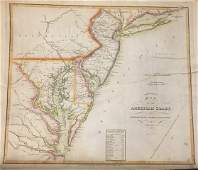 1813 MAP OF THE AMERICAN COAST BY JOHN MELISH