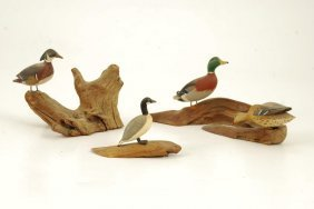 Russ And Allston Burr Miniature Decoys Hingham