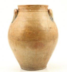 Saltglazed Stoneware Storage Jar