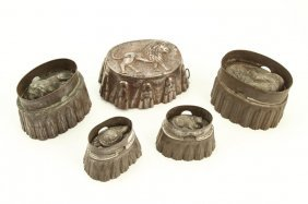 (5) Tin And Copper Culinary Molds