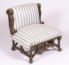 Egyptian Revival Side Chair Pottier & Stymus Attr.