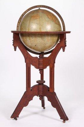 Victorian 18 Inch Terrestrial Library Globe