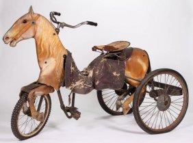 Rare 1930's Horse Form Parade Velocipede