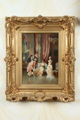 Italian 19th C. Genre Oil