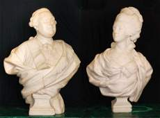 Marble Busts of Louis XVI and Marie Antoinette