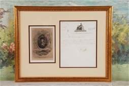 Napoleon Bonaparte Signed Letter