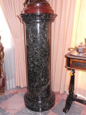 19th C Marble Pedestal