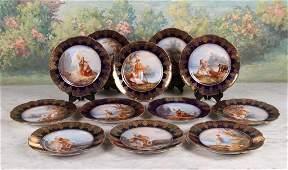 Set of Twelve Limoges Cabinet Plates