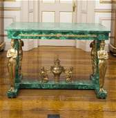 Empire style Ormolu Mounted Malachite Center Table