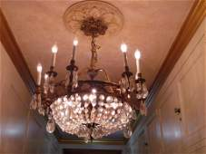 *C. 1900 Empire Style French Chandelier