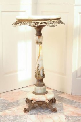 19th C French Cast Gilt Bronze Table