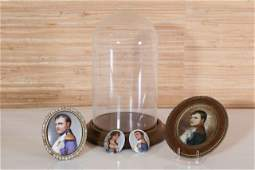 Four Portrait Miniatures of Napoleon
