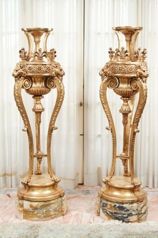 Pair of Late 19th c Louis XVI Style Torchieres