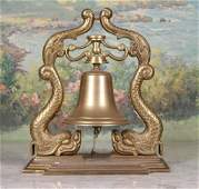 20th c Heavy Brass Ships Bell