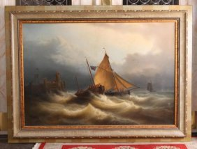 American 19th C Maritime Painting